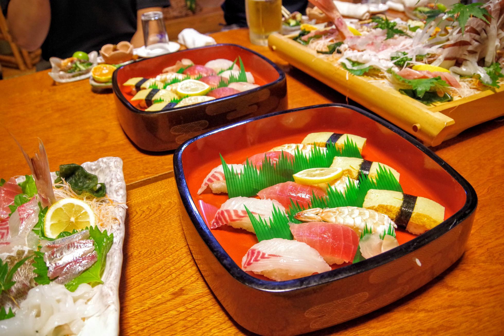 鯛福寿司のお寿司盛り合わせ