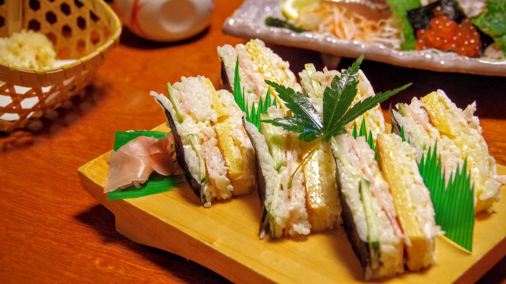 鯛福寿司の海老サンド