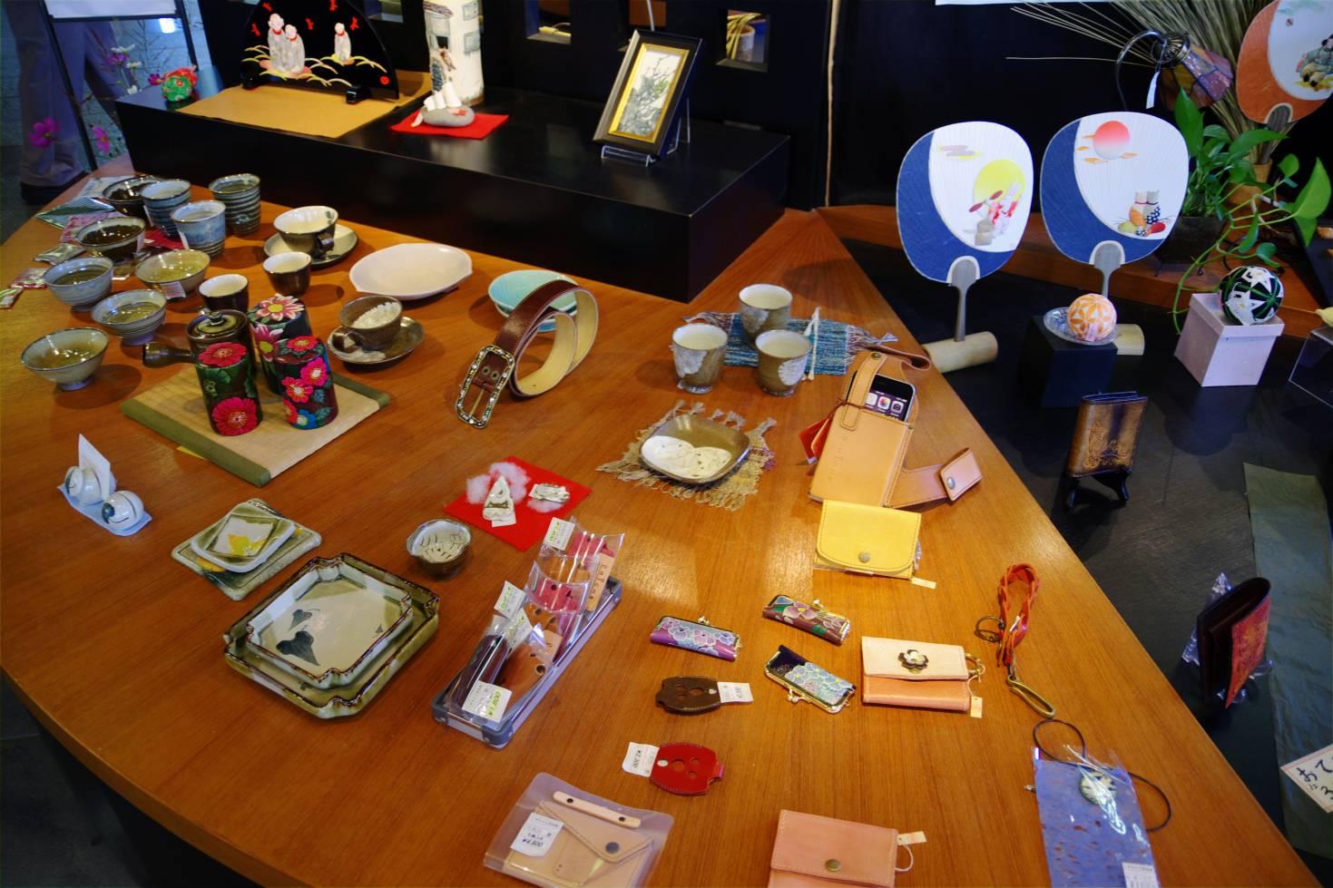 くまもと工芸会館の商品の一例