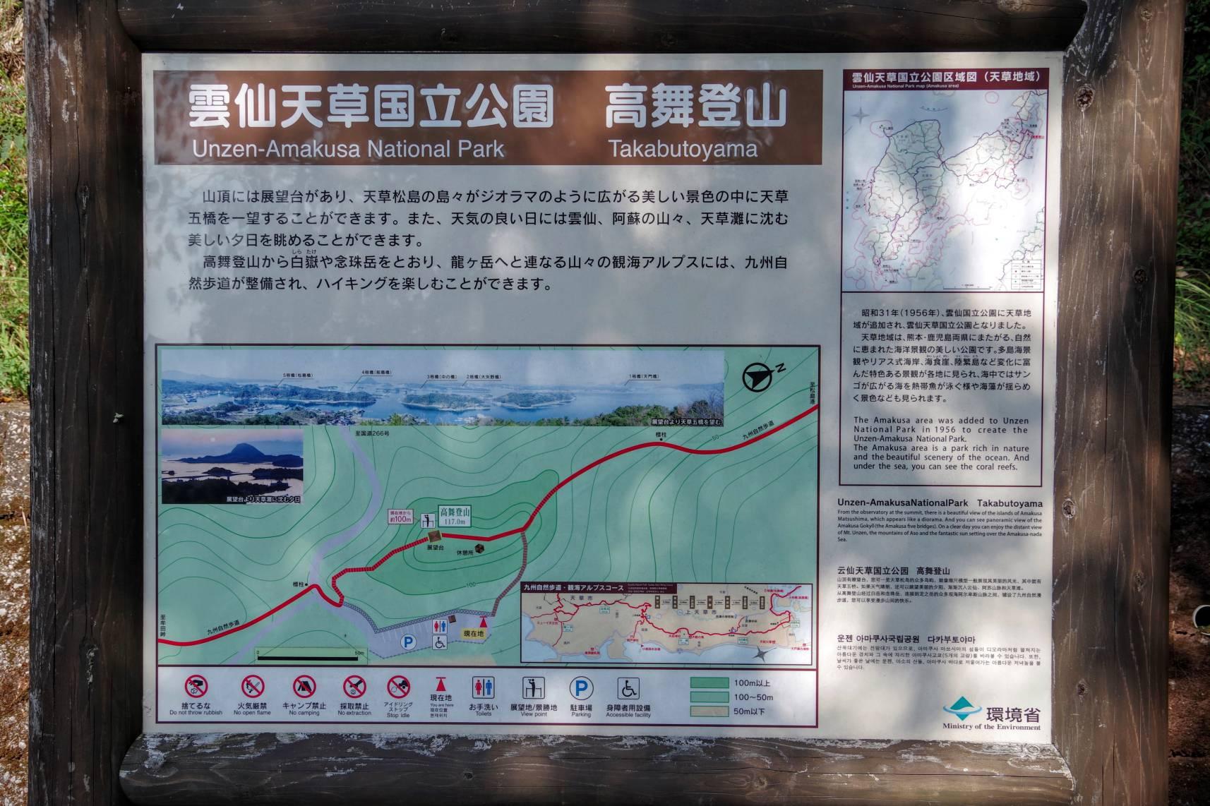 高舞登山の説明