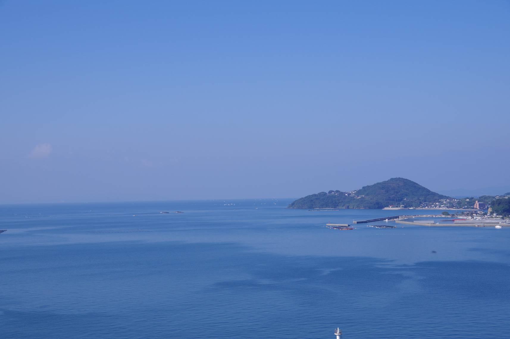 スパ・タラソ天草横の高台から見える景色