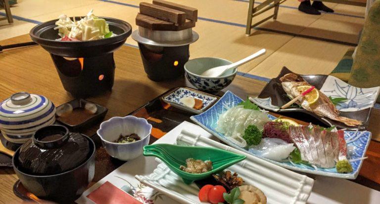 天風庵の夕食(黒毛和牛付きのプラン)