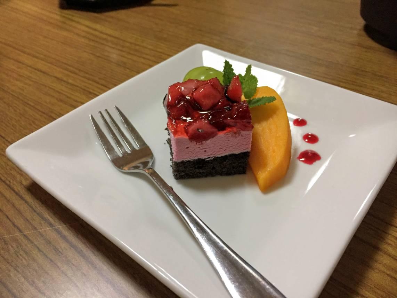 天風庵ピープルの夕食のデザート