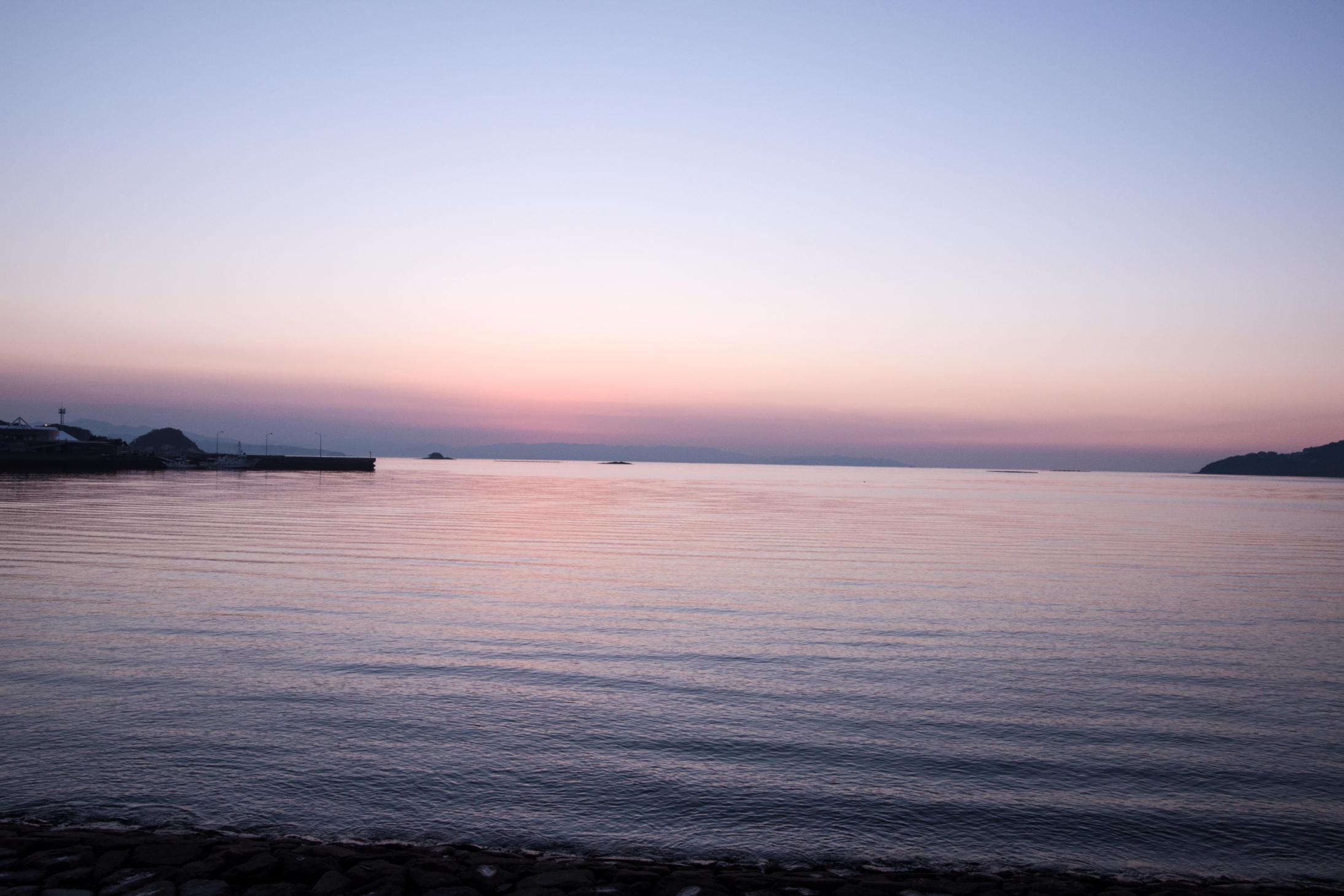 宮津海遊公園の夕日