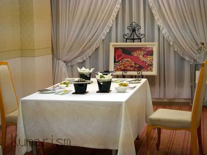 ホテルアレグリアガーデンズ天草の夕食会場の一部