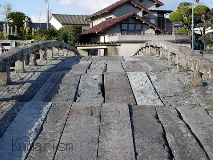 天草市の祇園橋の端からの視点