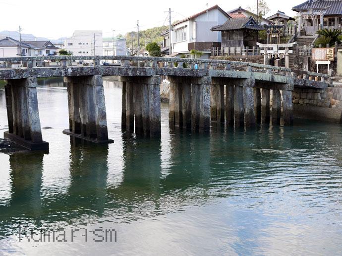 天草市の祇園橋の全体