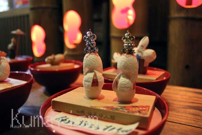[やまが門前美術館] 世界にひとつだけ!職人さん手作りのふんわりとした繭人形