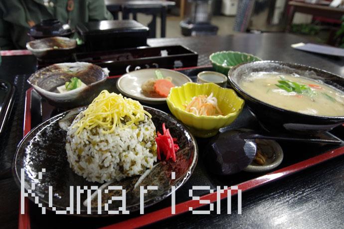 高菜めし定食(1320円)
