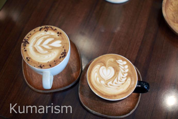 CAFE SWITCHのラテアート