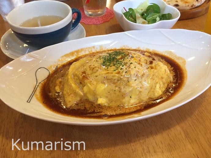 キラキラ・スマイルcafe オムライスの写真