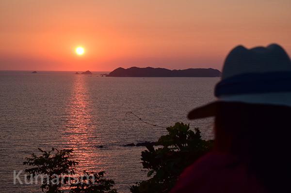 小森海岸の夕日
