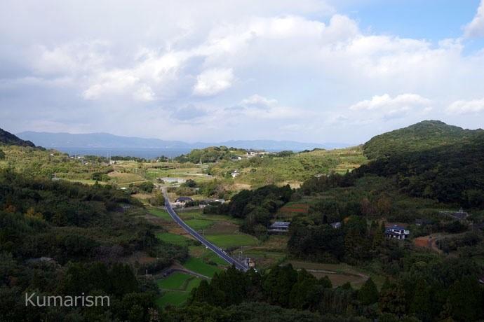 富岡ビジターセンター 裏側からの景色