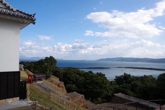 富岡城 本丸から海側を見渡した景色