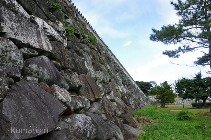 富岡城の百間土手