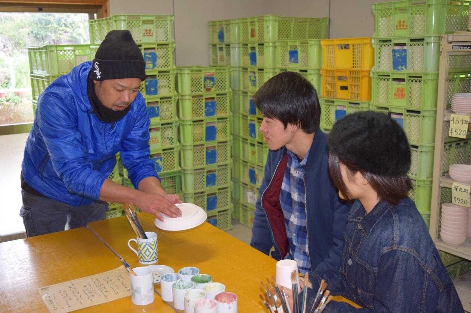 内田皿山焼‗絵付け体験