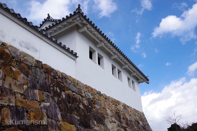 富岡城の白壁
