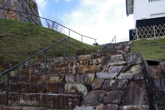 富岡城 階段