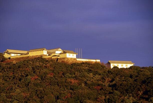 富岡港から見た富岡城