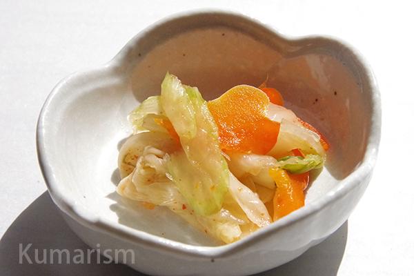 アレンジされた白菜漬け