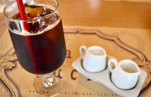 ドリンクのアイスコーヒー