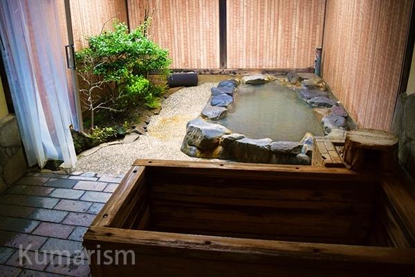 [湯~庵]温泉と料理の二刀流、こだわりの家族湯と懐石料理はいかが?