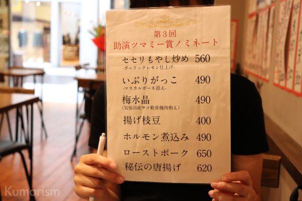 助演ツマミー賞ノミネート