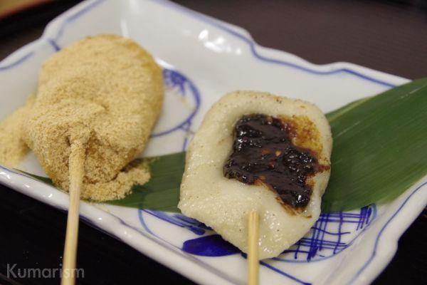 味噌田楽と生麩串だんご