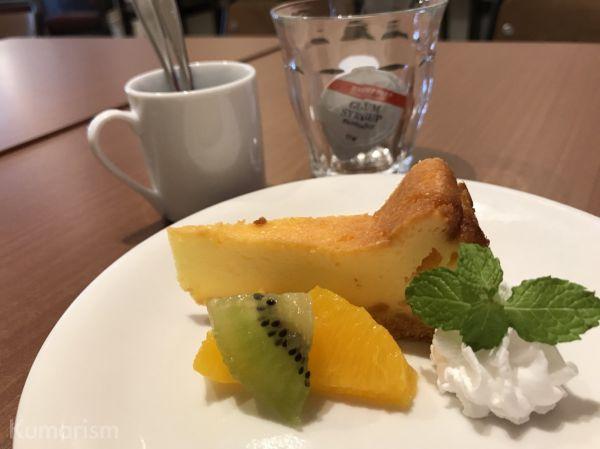 本日のデザート(チーズケーキ)