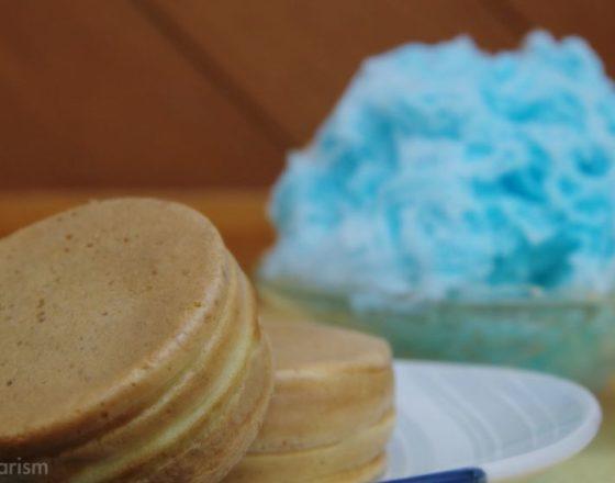 コバルトアイスと饅頭
