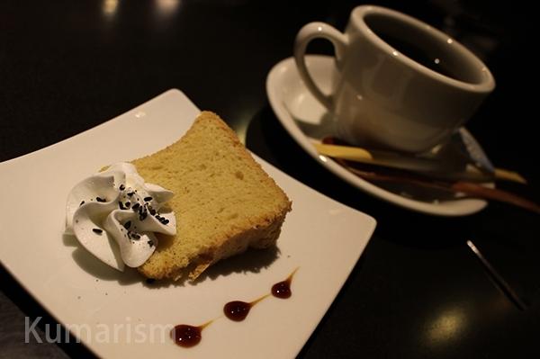 米粉のケーキと珈琲