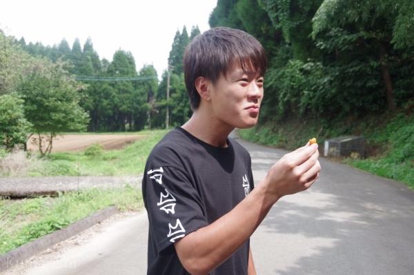 木の実を試食