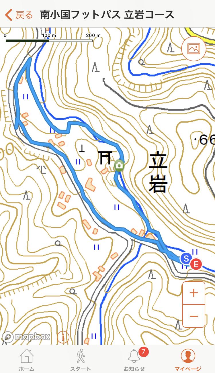 立岩コースマップ