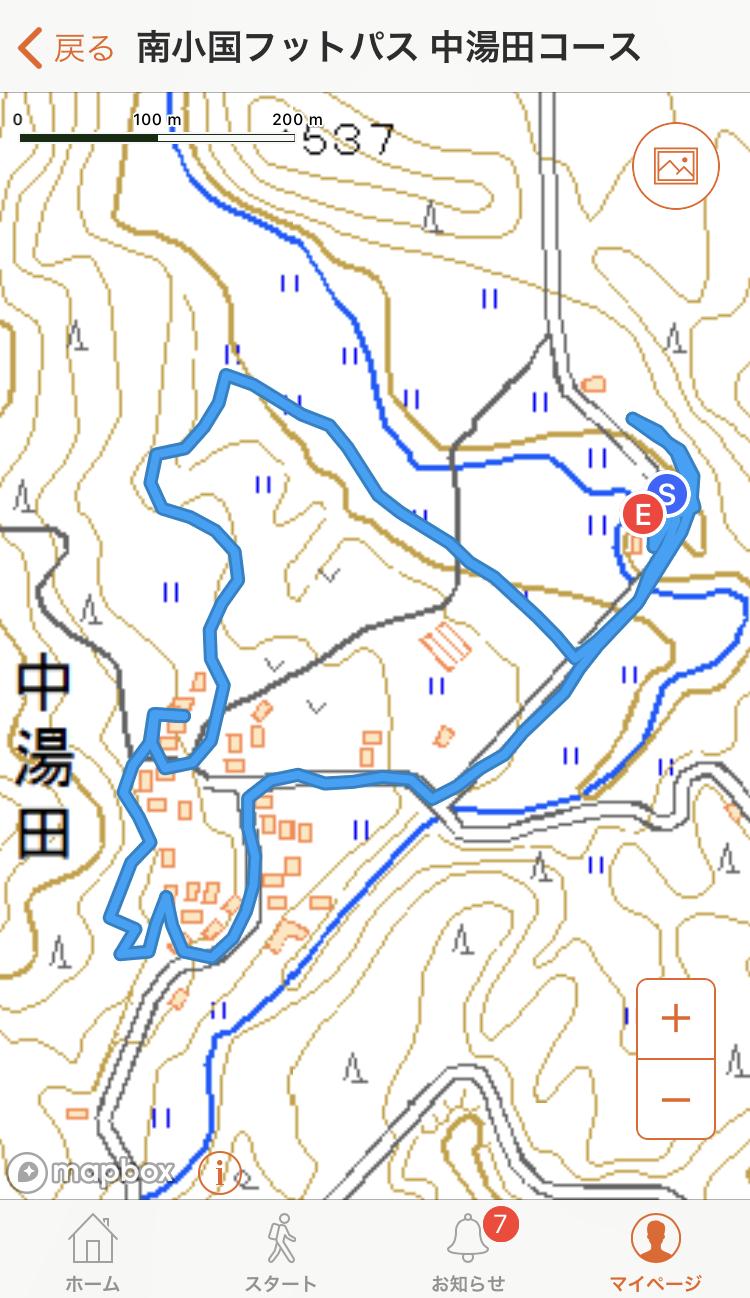 中湯田コースマップ