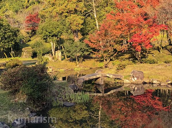 相良護国神社前の池