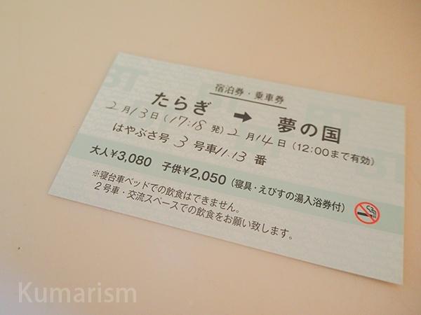 切符風の券の写真
