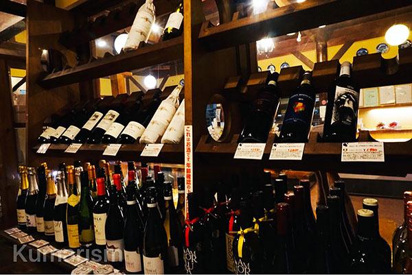 並べられたワイン